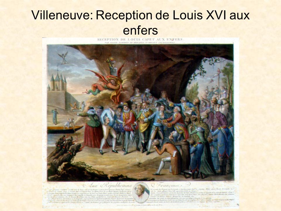 Villeneuve: Reception de Louis XVI aux enfers