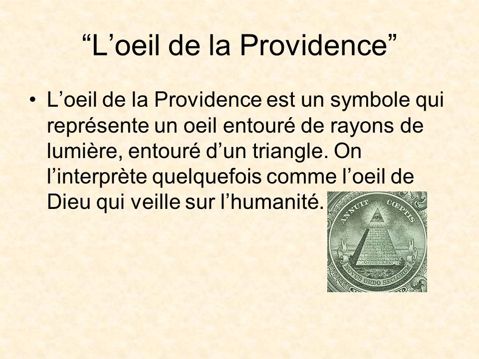 L'oeil de la Providence