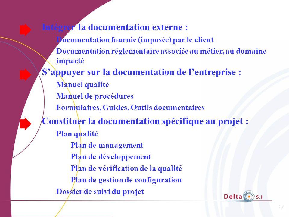 Intégrer la documentation externe :