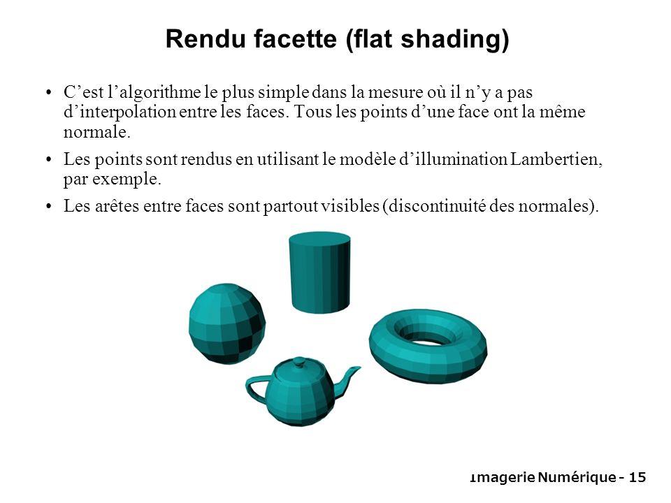 Rendu facette (flat shading)