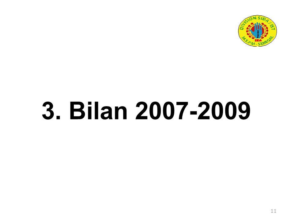 3. Bilan 2007-2009