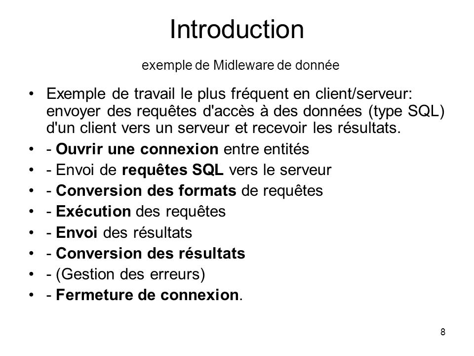 Introduction exemple de Midleware de donnée