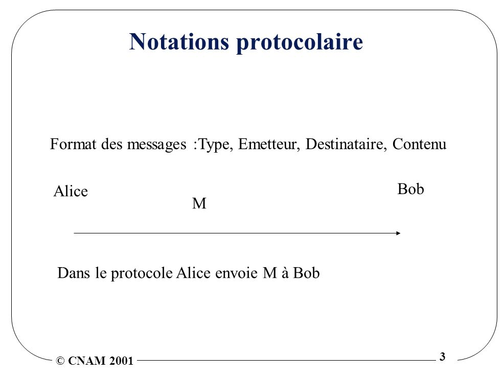 Notations protocolaire