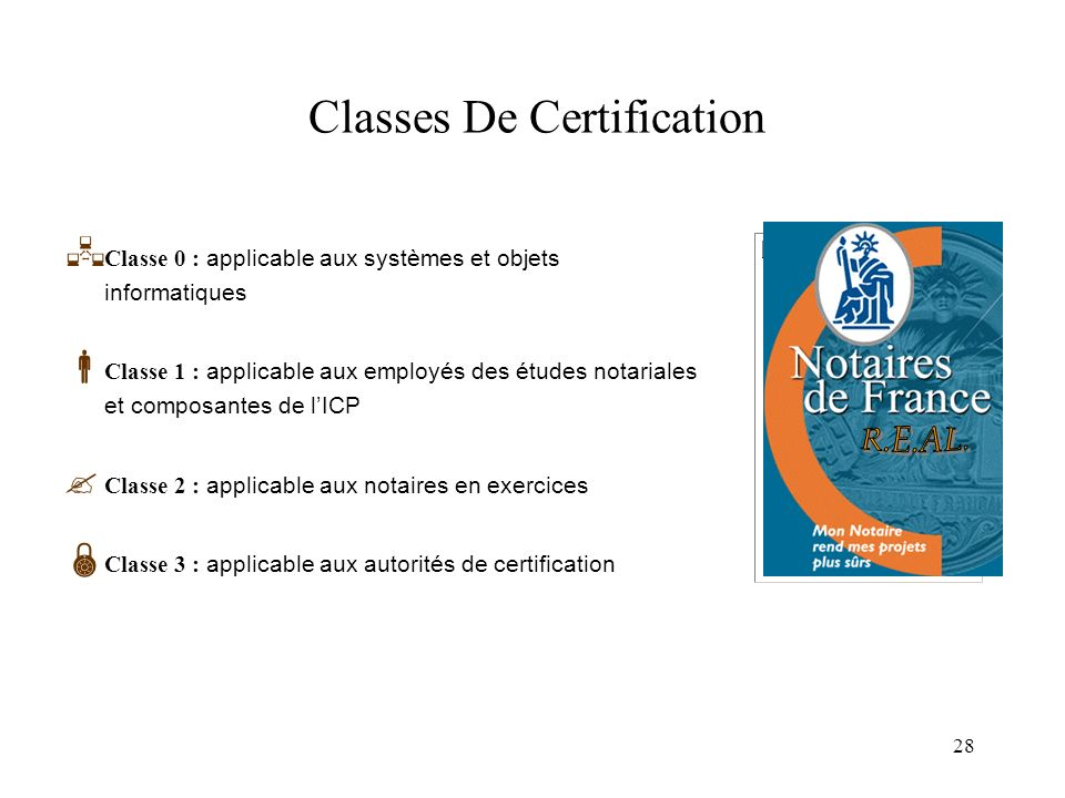 Classes De Certification
