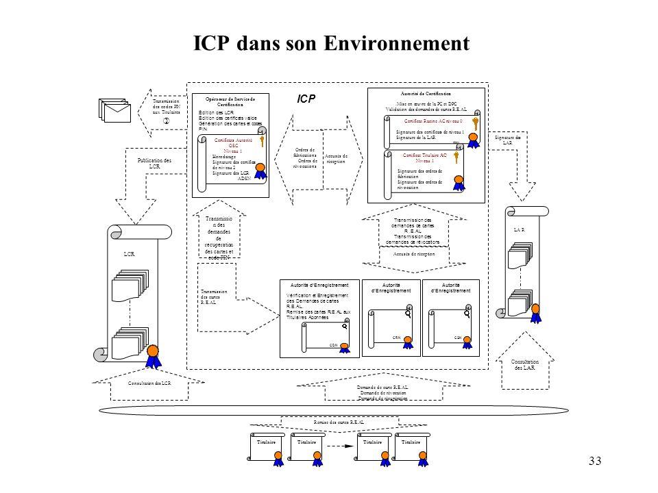 ICP dans son Environnement