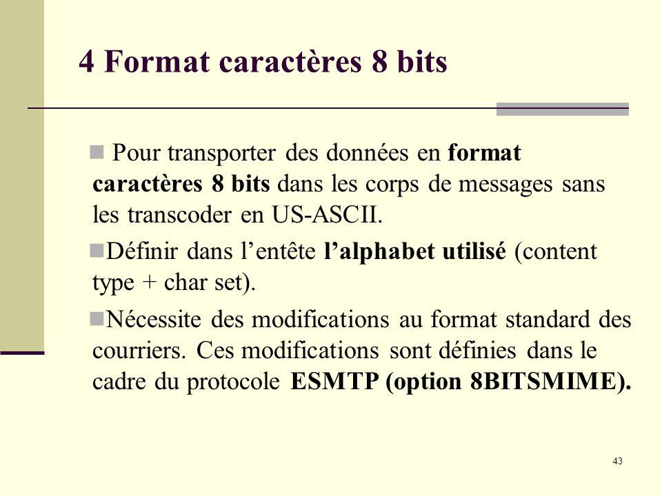 4 Format caractères 8 bits