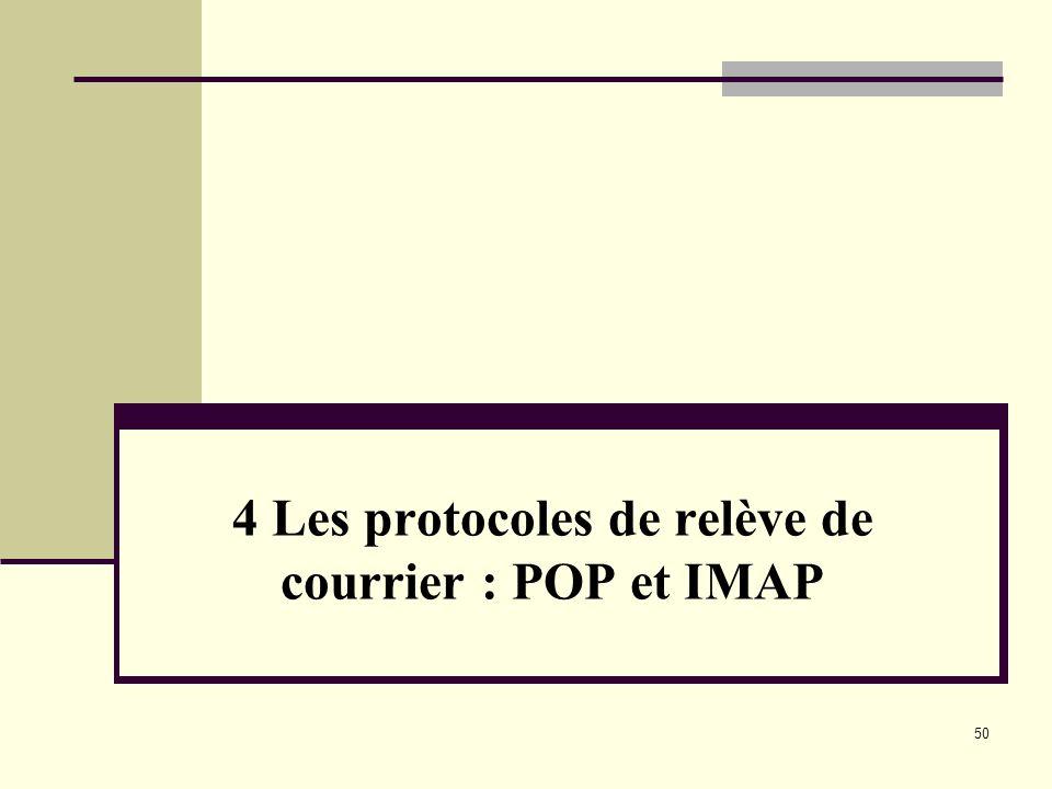 4 Les protocoles de relève de courrier : POP et IMAP