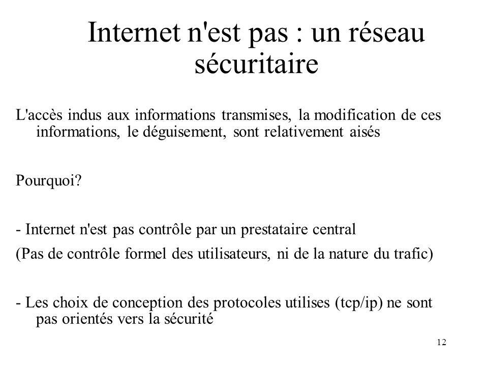 Internet n est pas : un réseau sécuritaire