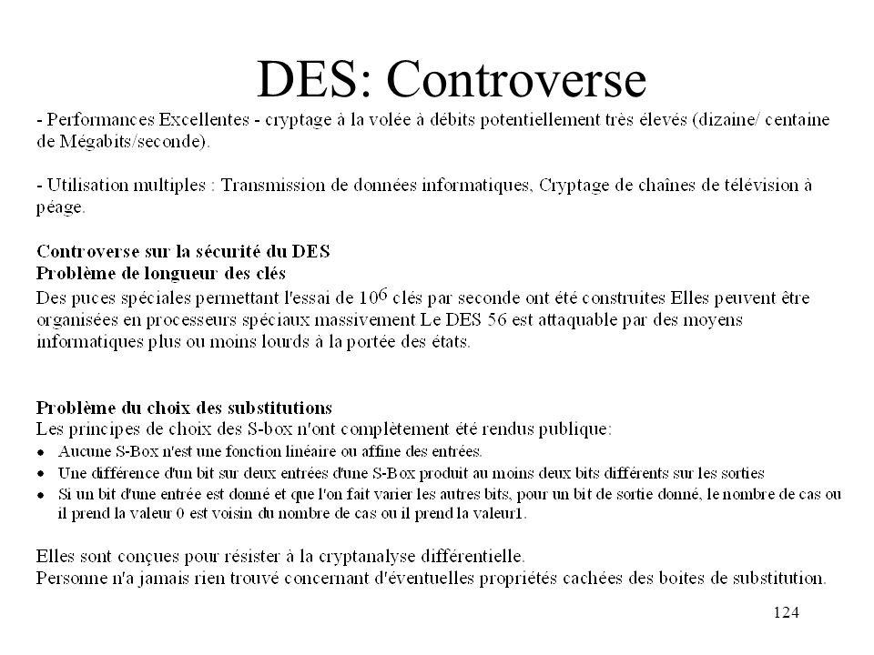 DES: Controverse
