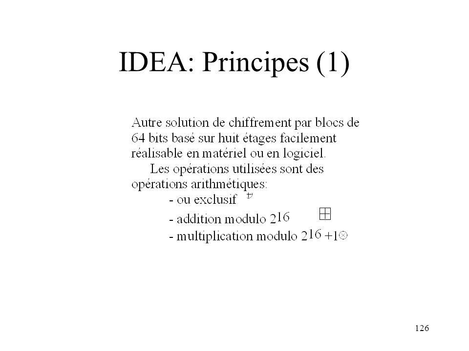 IDEA: Principes (1)