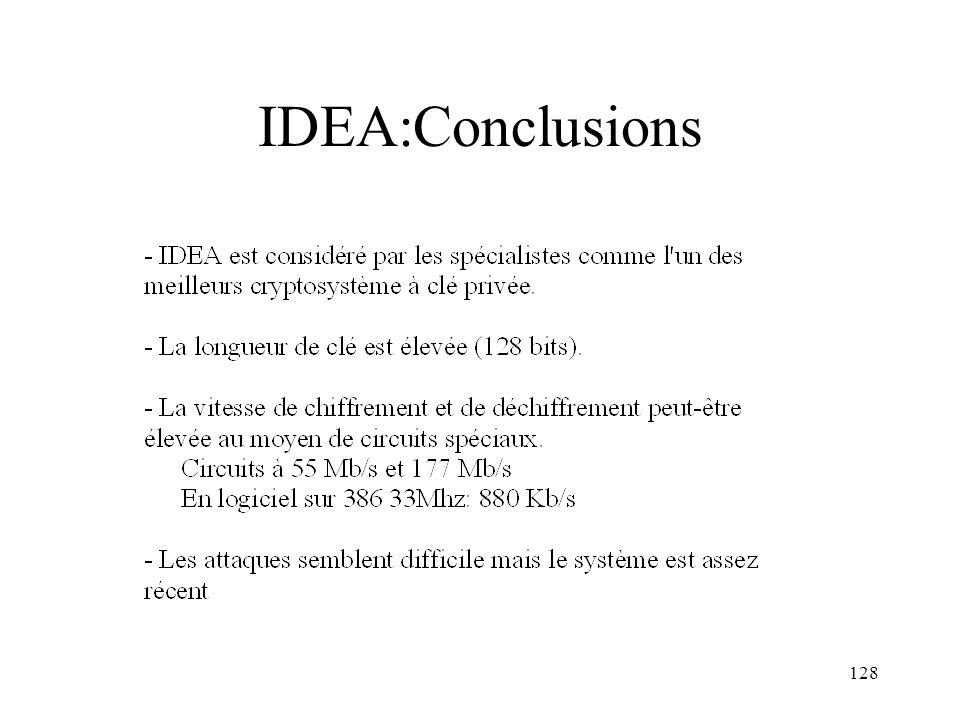 IDEA:Conclusions
