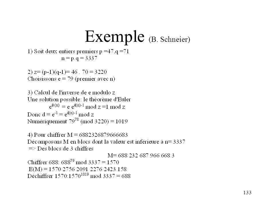 Exemple (B. Schneier)