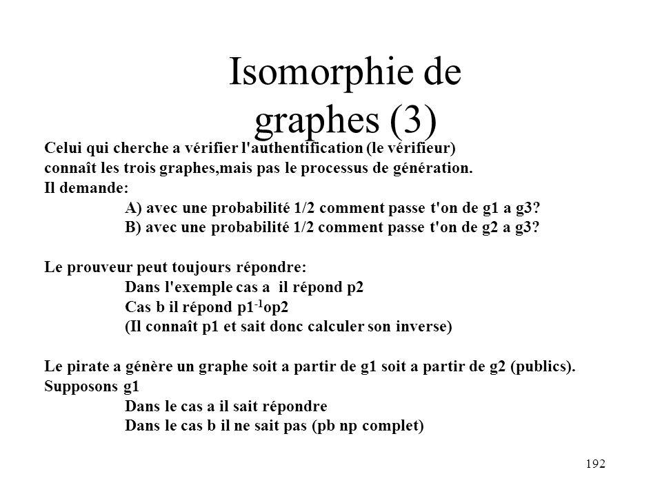 Isomorphie de graphes (3)