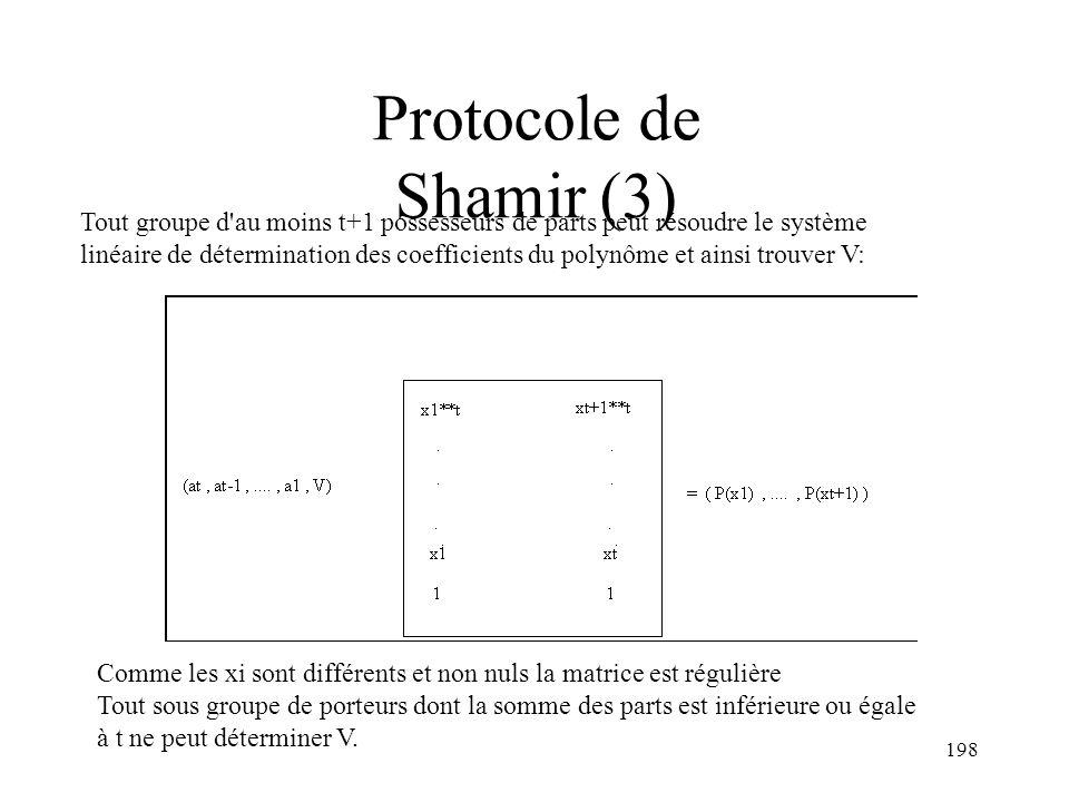 Protocole de Shamir (3)