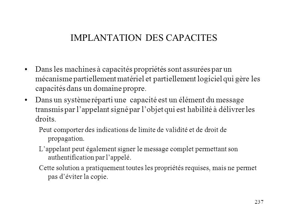 IMPLANTATION DES CAPACITES