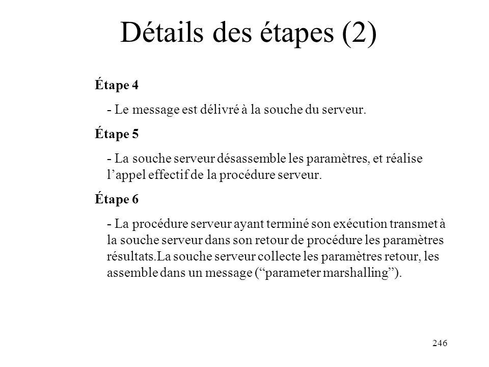 Détails des étapes (2) Étape 4
