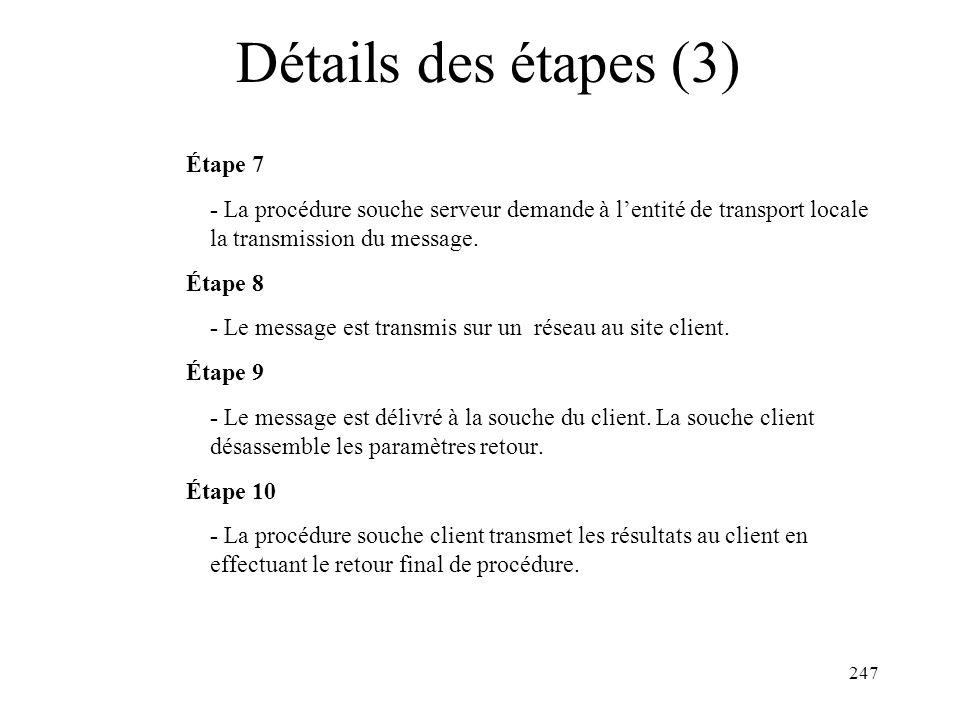 Détails des étapes (3) Étape 7