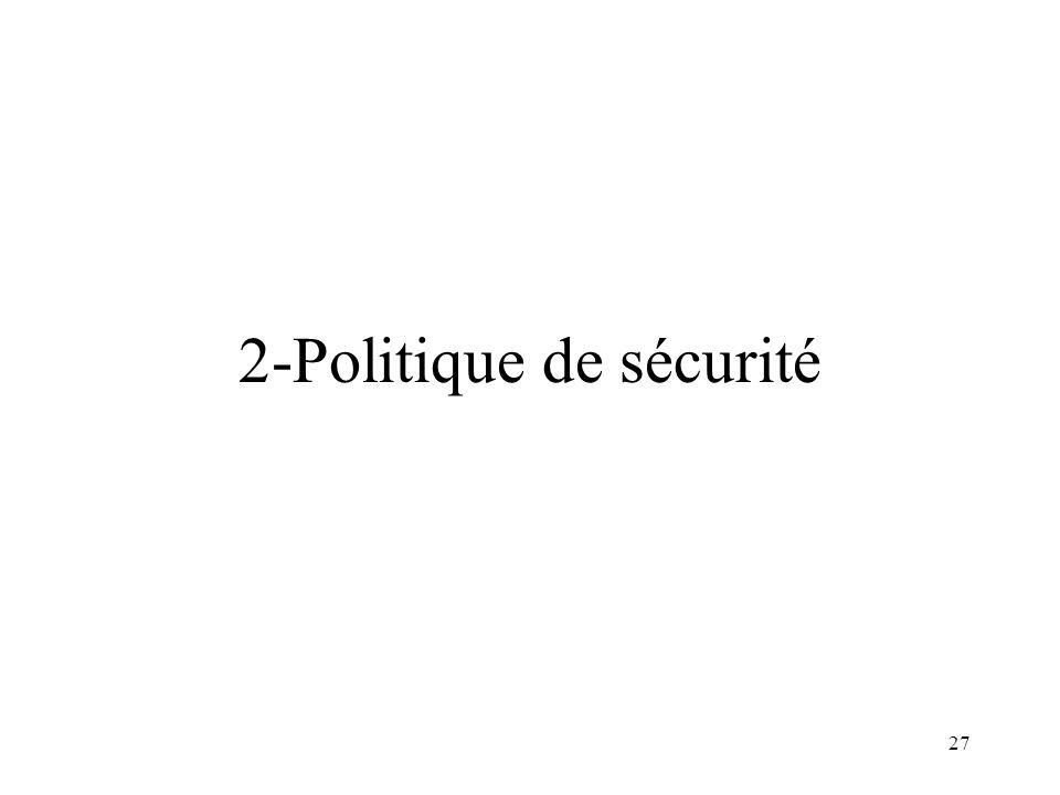 2-Politique de sécurité