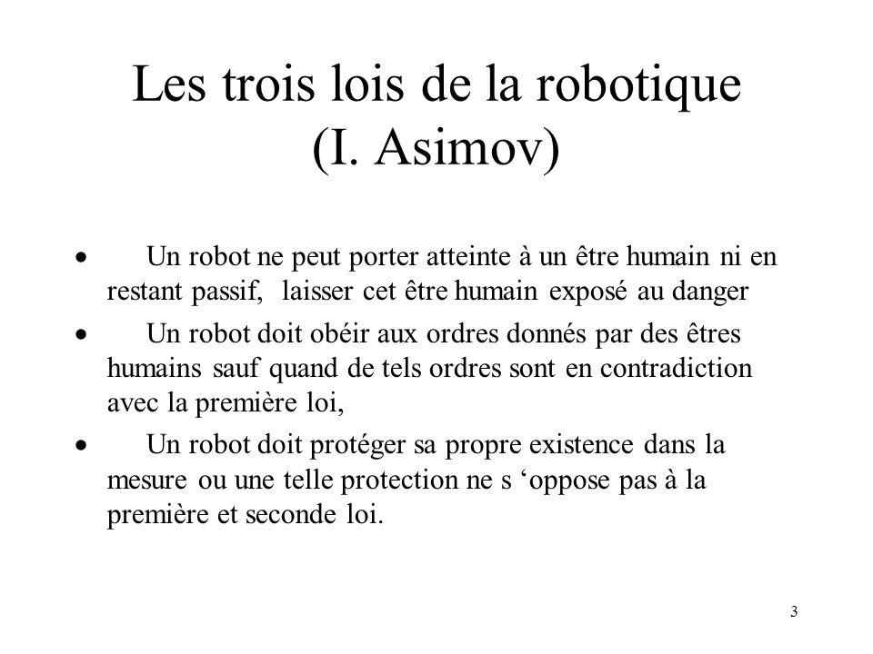 Les trois lois de la robotique (I. Asimov)