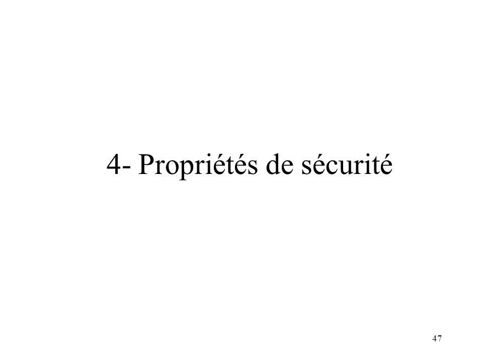 4- Propriétés de sécurité