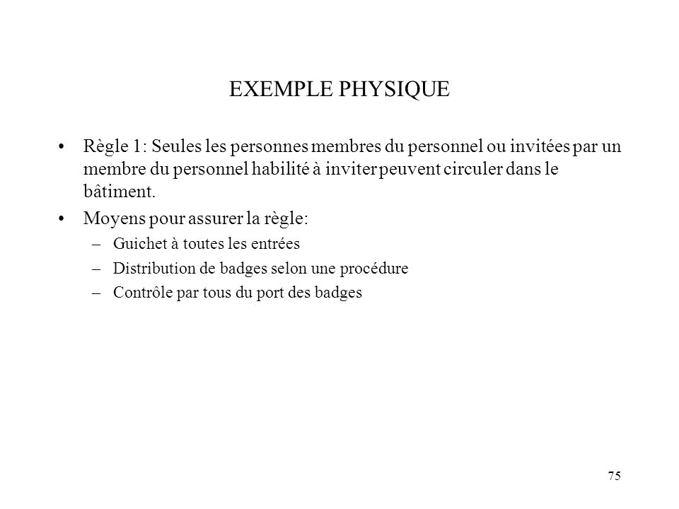 EXEMPLE PHYSIQUE