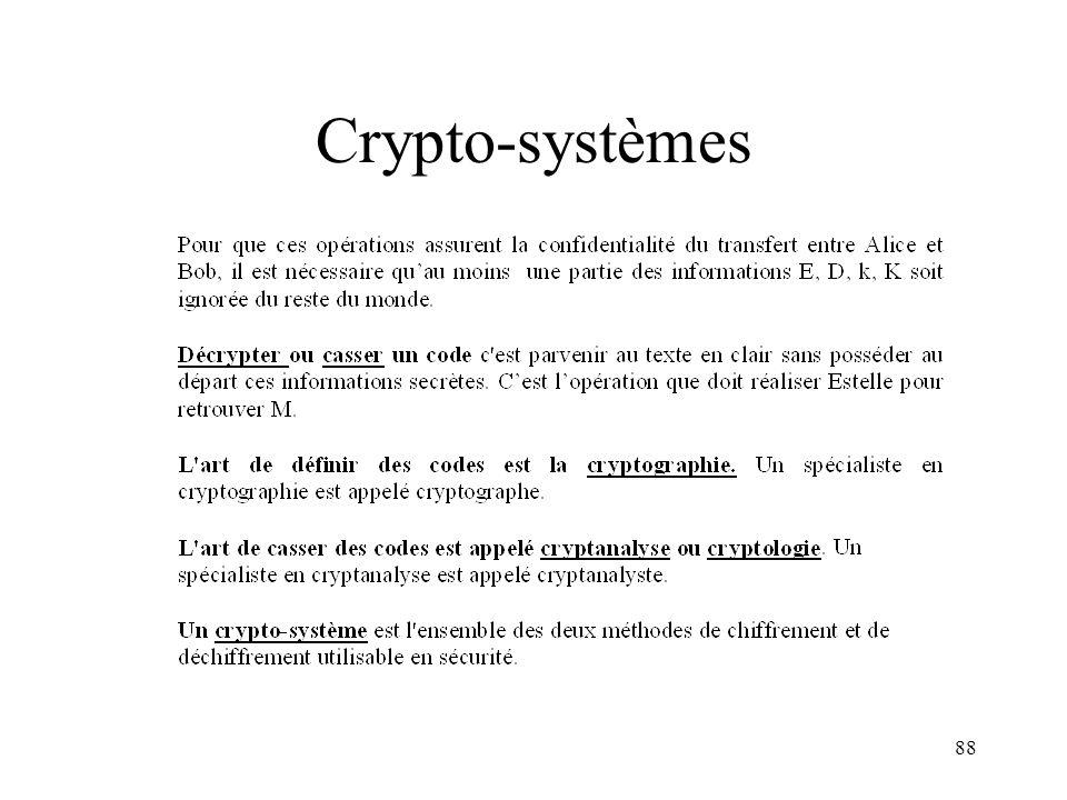Crypto-systèmes