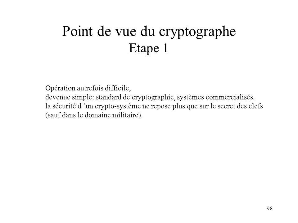 Point de vue du cryptographe Etape 1