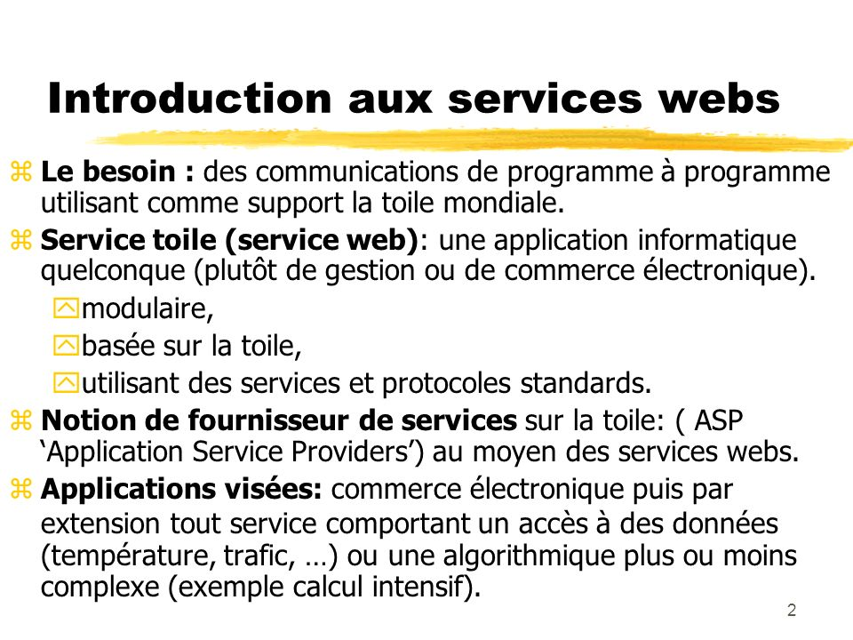 Introduction aux services webs