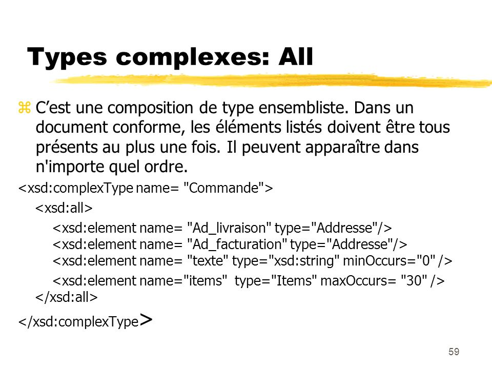 Types complexes: All