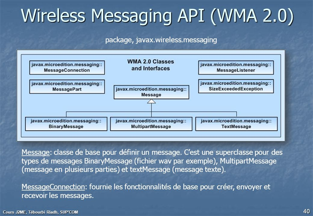Wireless Messaging API (WMA 2.0)