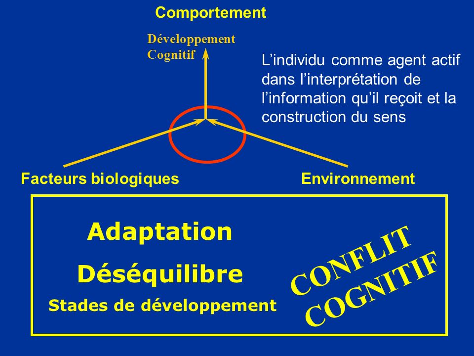 CONFLIT COGNITIF Adaptation Déséquilibre Comportement