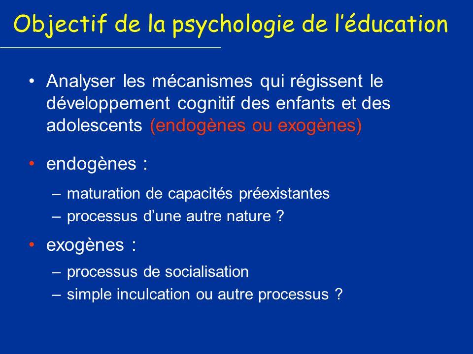Objectif de la psychologie de l'éducation