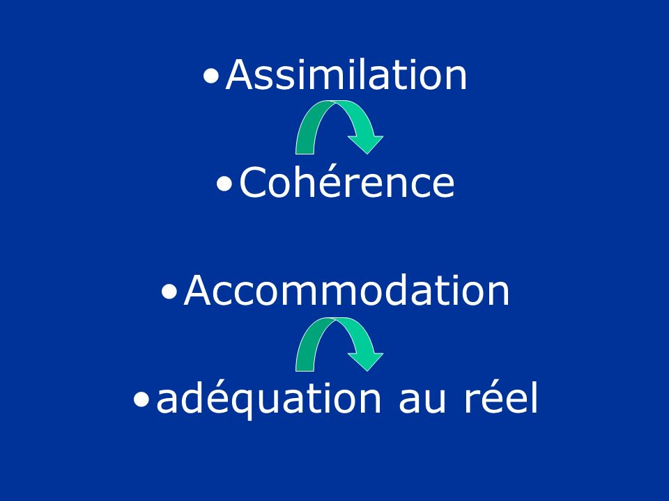Assimilation Cohérence Accommodation adéquation au réel