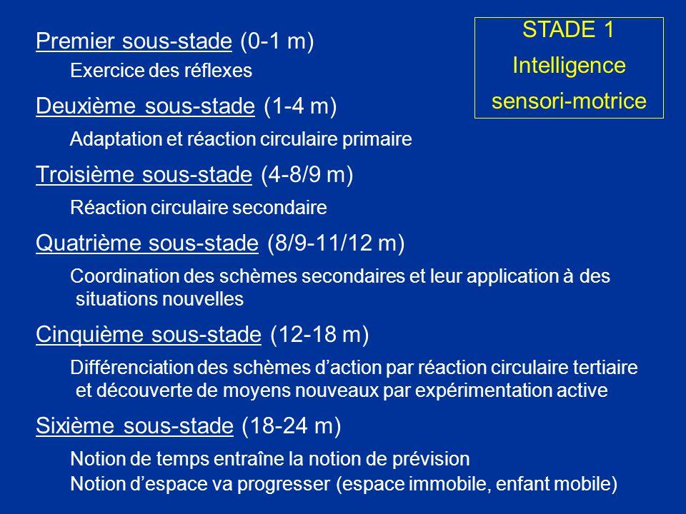 Premier sous-stade (0-1 m) Deuxième sous-stade (1-4 m)