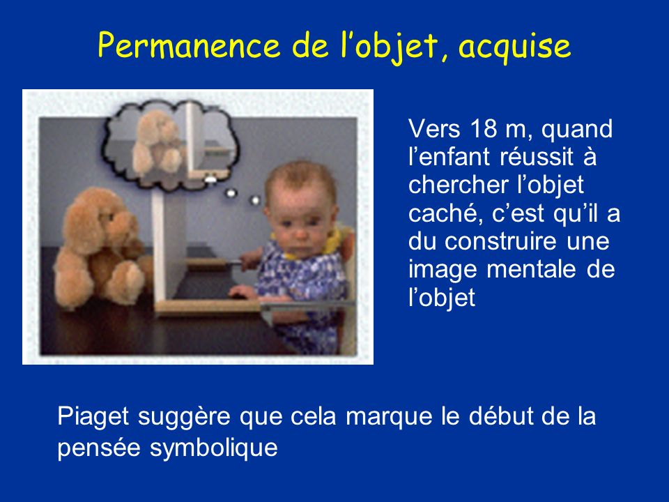 Permanence de l'objet, acquise