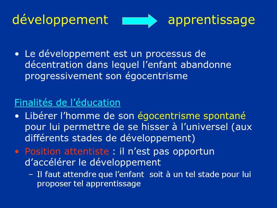 développement apprentissage