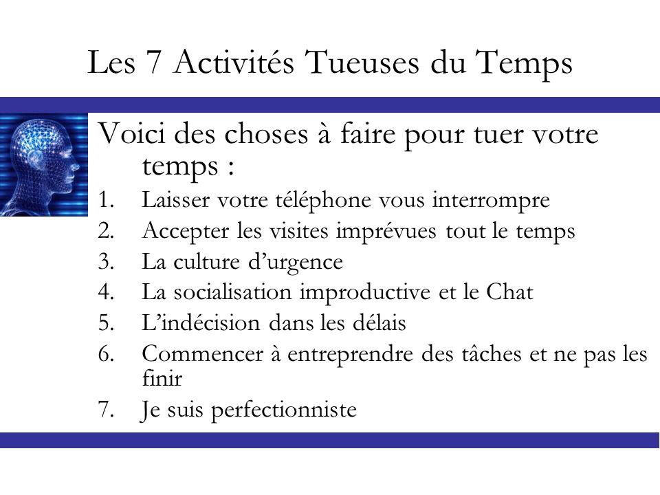 Les 7 Activités Tueuses du Temps