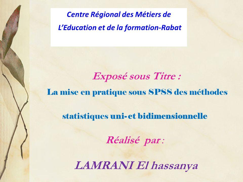 Centre Régional des Métiers de L'Education et de la formation-Rabat