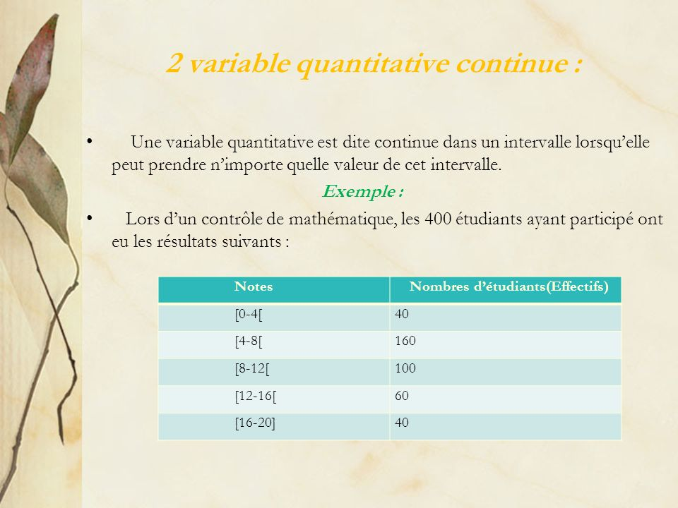 2 variable quantitative continue :