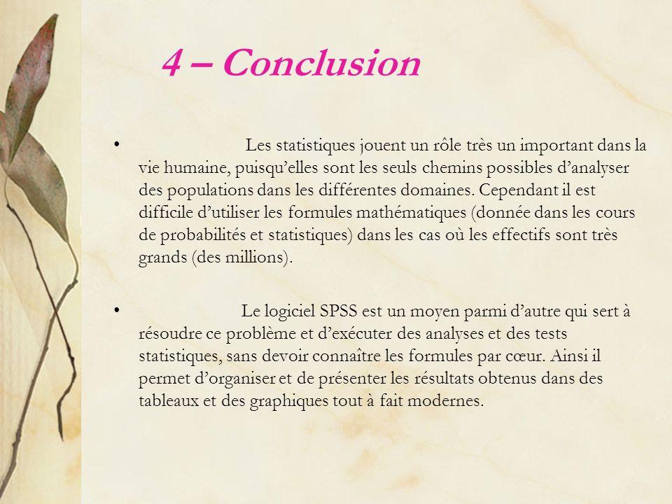 4 – Conclusion