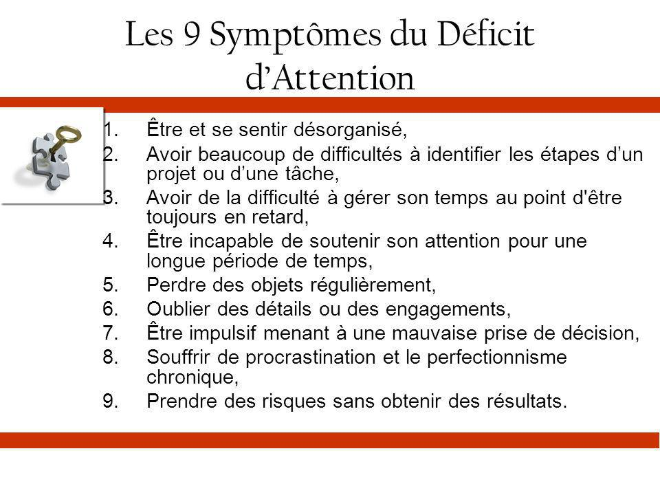 Les 9 Symptômes du Déficit d'Attention