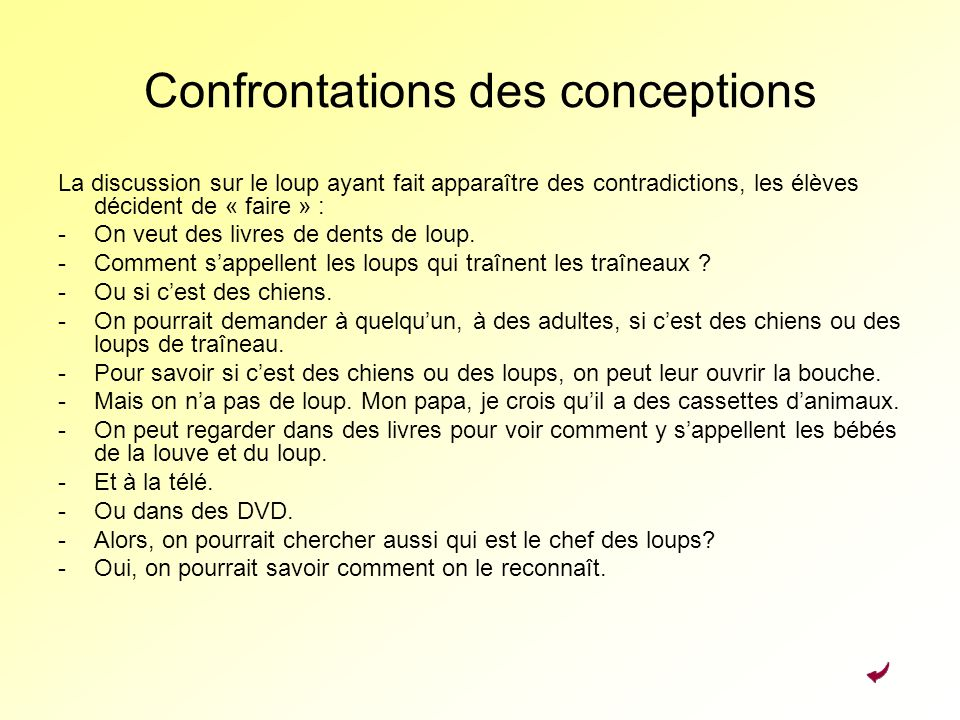 Confrontations des conceptions