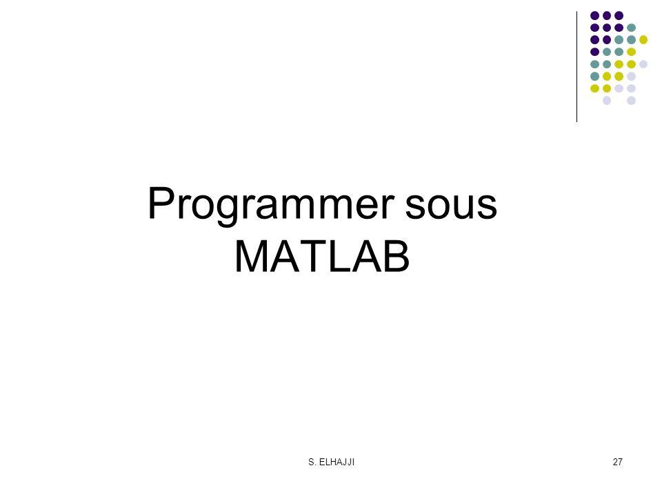Programmer sous MATLAB