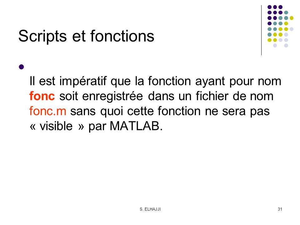 Scripts et fonctions