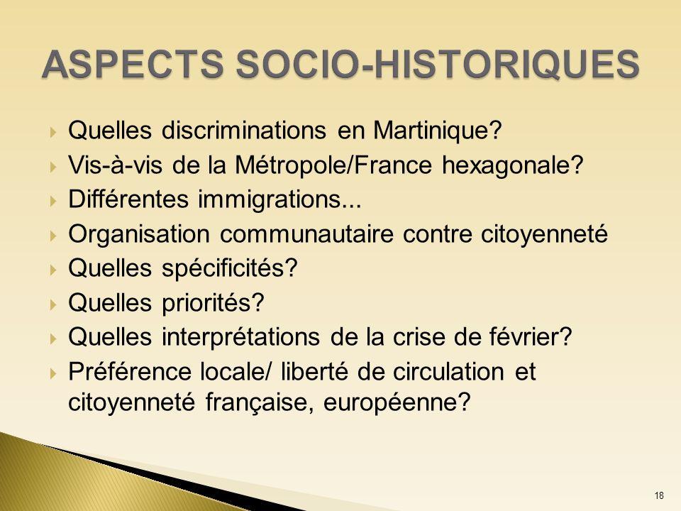 ASPECTS SOCIO-HISTORIQUES
