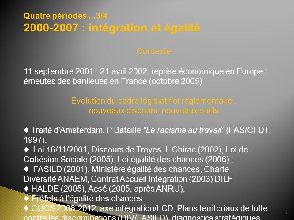 2000-2007 : intégration et égalité