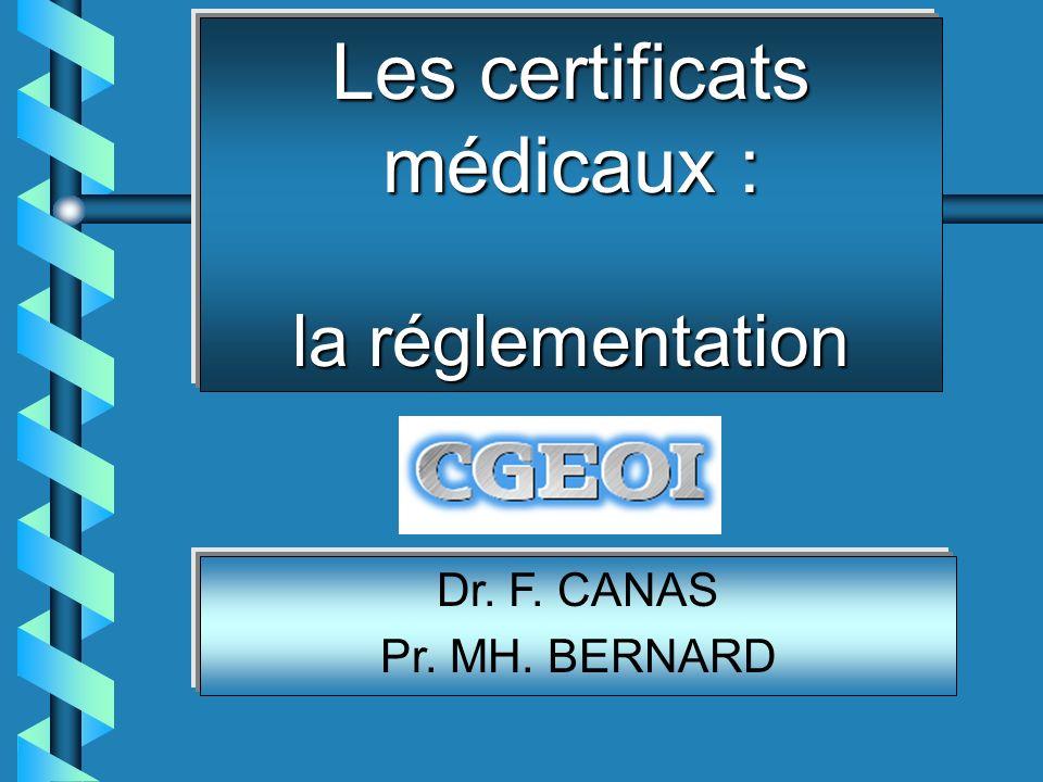 Les certificats médicaux : la réglementation