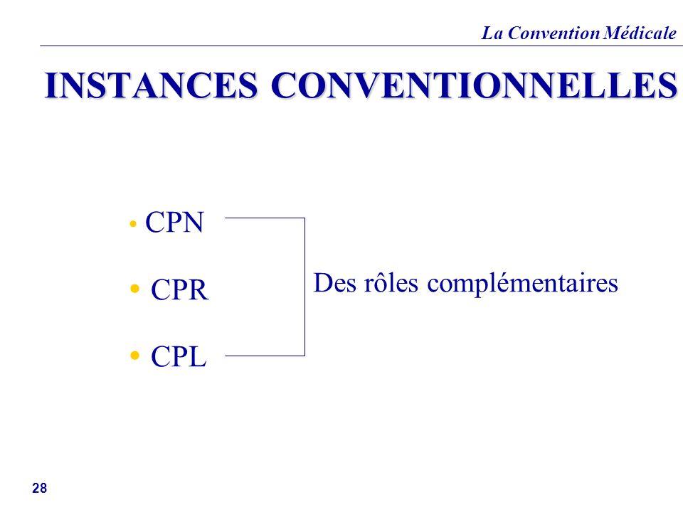 INSTANCES CONVENTIONNELLES