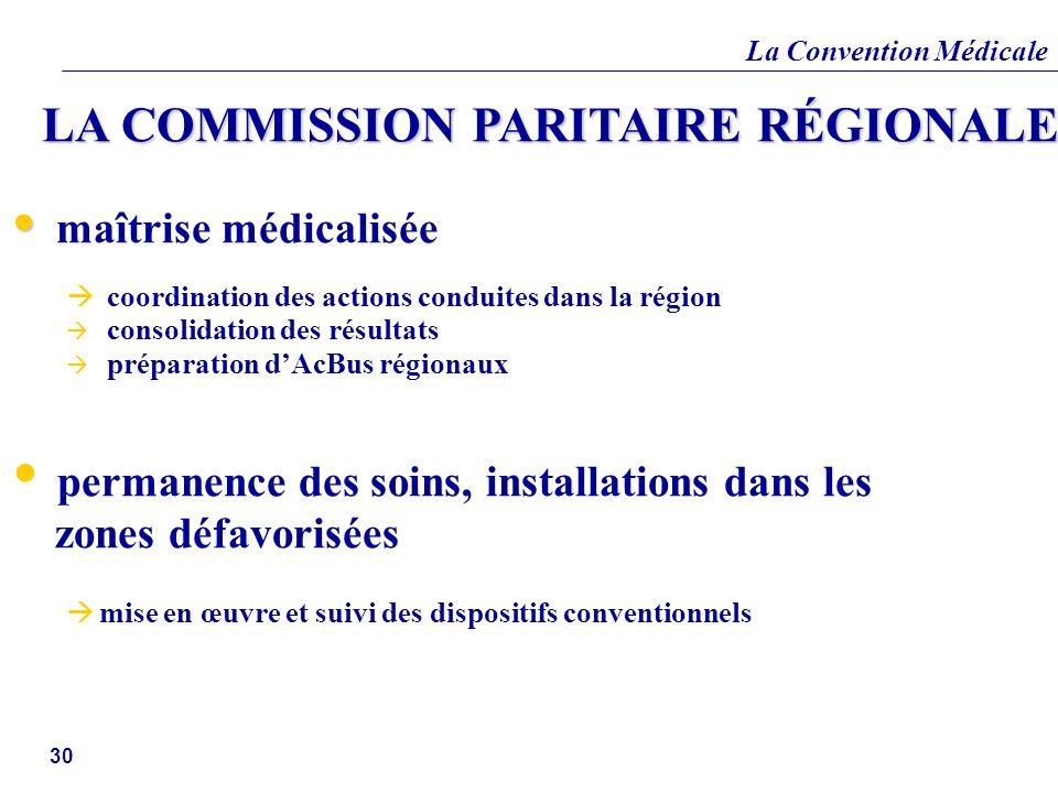 LA COMMISSION PARITAIRE RÉGIONALE