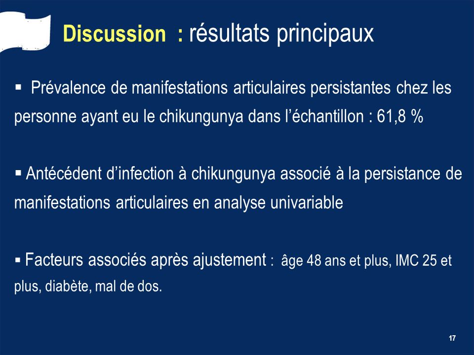 Discussion : résultats principaux